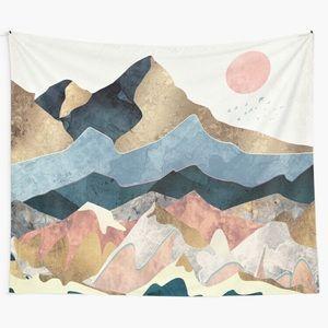80 x 68 Golden Peaks Tapestry